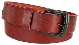 """Men's Genuine Full Grain Leather Casual Jeans Belt 1-1/2"""" = 38mm (40, Burgundy) - $22.27"""