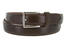 Made in Italy Oil-Tanned Italian Leather Dress Belt For Men (Brown, 36) - $29.65