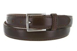 Made in Italy Oil-Tanned Italian Leather Dress Belt For Men (Brown, 40) - $29.65