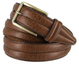 "Lejon 1-3/8"" Wide Heritage Italian Calfskin Leather Belt for Men - Made in US... - $29.65"