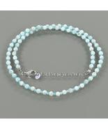 Hemimorphite & Amazonite Gemstone Beads Necklace with 925 Sterling Silve... - $28.99