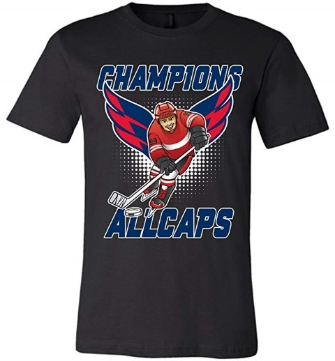 Biker style allcaps champions cup 2018 wing stanley t shirt men