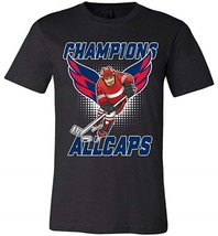 Biker Style ALLCAPS Champions Cup 2018 Wing Stanley T-Shirt Men - $14.99+