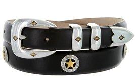 Presidential Gold Star Italian Genuine Leather Western Golf Belt (Smooth Blac... - $39.55