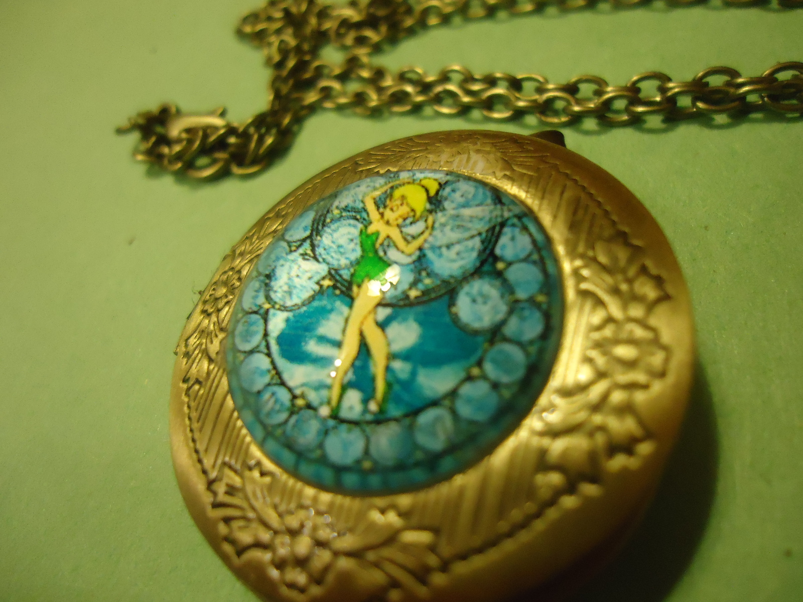 "Primary image for TINKERBELL LOCKET NECKLACE (18.5"" CHAIN)  **L@@k**   COMBINED SHIPPING  (660)"