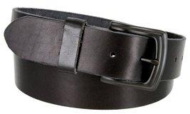 """Men's Genuine Full Grain Leather Casual Jeans Belt 1-1/2"""" = 38mm (40, Black) - $22.27"""