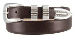 Vincent Silver Genuine Italian Calfskin Leather Designer Dress Belt for Men(S... - $29.69