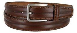 Made in Italy Oil-Tanned Italian Leather Dress Belt For Men (Light Brown, 36) - $19.75