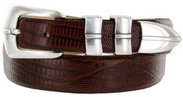 Marin Silver Italian Calfskin Leather Designer Dress Golf Belt for Men (54, L... - $29.20