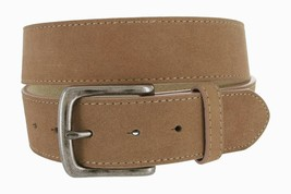 Casual Jean Genuine Suede Leather Belt for Men (Tan, 34) - $14.80