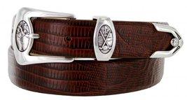 Monterey Italian Calfskin Leather Designer Dress Belts for Men(52, Lizard Brown) - $29.20
