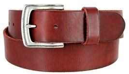 """Men's Genuine Full Grain Leather Casual Jeans Belt 1-1/2"""" = 38mm (36, Burgundy) - $22.27"""