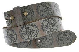 "BS70 Full Grain Leather Belt Strap 1.5"" Earth Gray 32 - $18.76"
