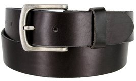 "Men's Genuine Full Grain Leather Casual Jeans Belt 1-1/2"" = 38mm (32, Black) - $22.27"