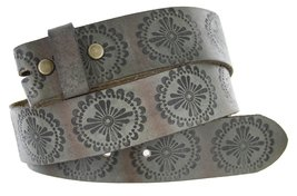 "BS70 Full Grain Leather Belt Strap 1.5"" Earth Gray 36 - $16.78"