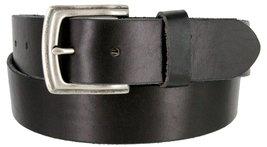 """Men's Genuine Full Grain Leather Casual Jeans Belt 1-1/2"""" = 38mm (36, Black) - $22.27"""