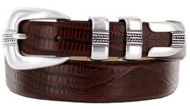 Norris Italian Calfskin Leather Designer Dress Golf Belt for Men (54, Lizard ... - $29.20