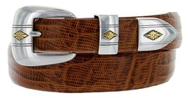 Golden Spring Diamond Italian Calfskin Leather Designer Dress Belts for Men(4... - $29.20
