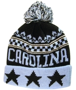 North Carolina Men's Cuffed Winter Knit Pom Beanie Hat with Stars Blue/B... - $11.95