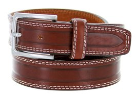 "S074/35 Men's Italian Leather Dress Casual Belt 1-3/8"" Wide Made in Italy(Tan... - $19.75"