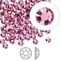 ROSE Crystal Rhinestones Flatback 144 SWAROVSKI 3.2mm 12ss ss12 - $8.17