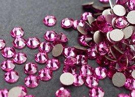 Flat back Crystal 2058 Swarovski Rhinestone No Hotfix Round 209 Rose SS1... - $8.91