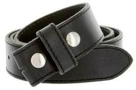 Italian Genuine Leather Belt Strap Black 40 - $18.76