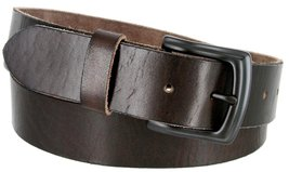 "Men's Genuine Full Grain Leather Casual Jeans Belt 1-1/2"" = 38mm (40, Brown) - $22.27"