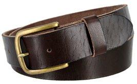"Men's Genuine Full Grain Leather Casual Jeans Belt 1-1/2"" = 38mm (30, Brown) - $22.27"