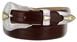 Colorado Italian Calfskin Leather Designer Dress Belts for Men(34, Lizard Brown) - $29.20