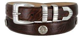 North Carolina Men's Genuine Leather Belt With Golf Concho In Lizard Brown(LB... - $39.55