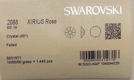 16ss Crystal CLEAR 1440 SWAROVSKI #2088 XIRIUS Rose Flatback Rhinestones... - $57.37