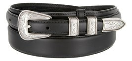 Oil Tanned Western Ranger Leather Belt- With Silver Finish Rope Design Buckle... - $32.62