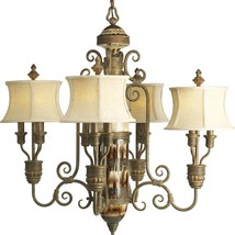 Ancient Artifacts Inspired Old World Chandelier Progress Lighting P4399-111 - $890.01