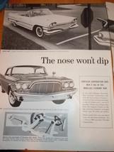 Vintage Chrysler Corporation 2 Page Magazine Advertisement 1960 - $10.99