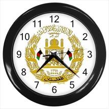 Emblem of Afghanistan Wall Clock - Tabard Surcoat - $18.61