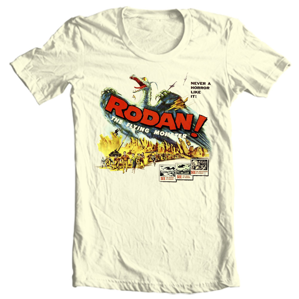 Rodan godzilla vintage sci fi movie t shirt for sale online store