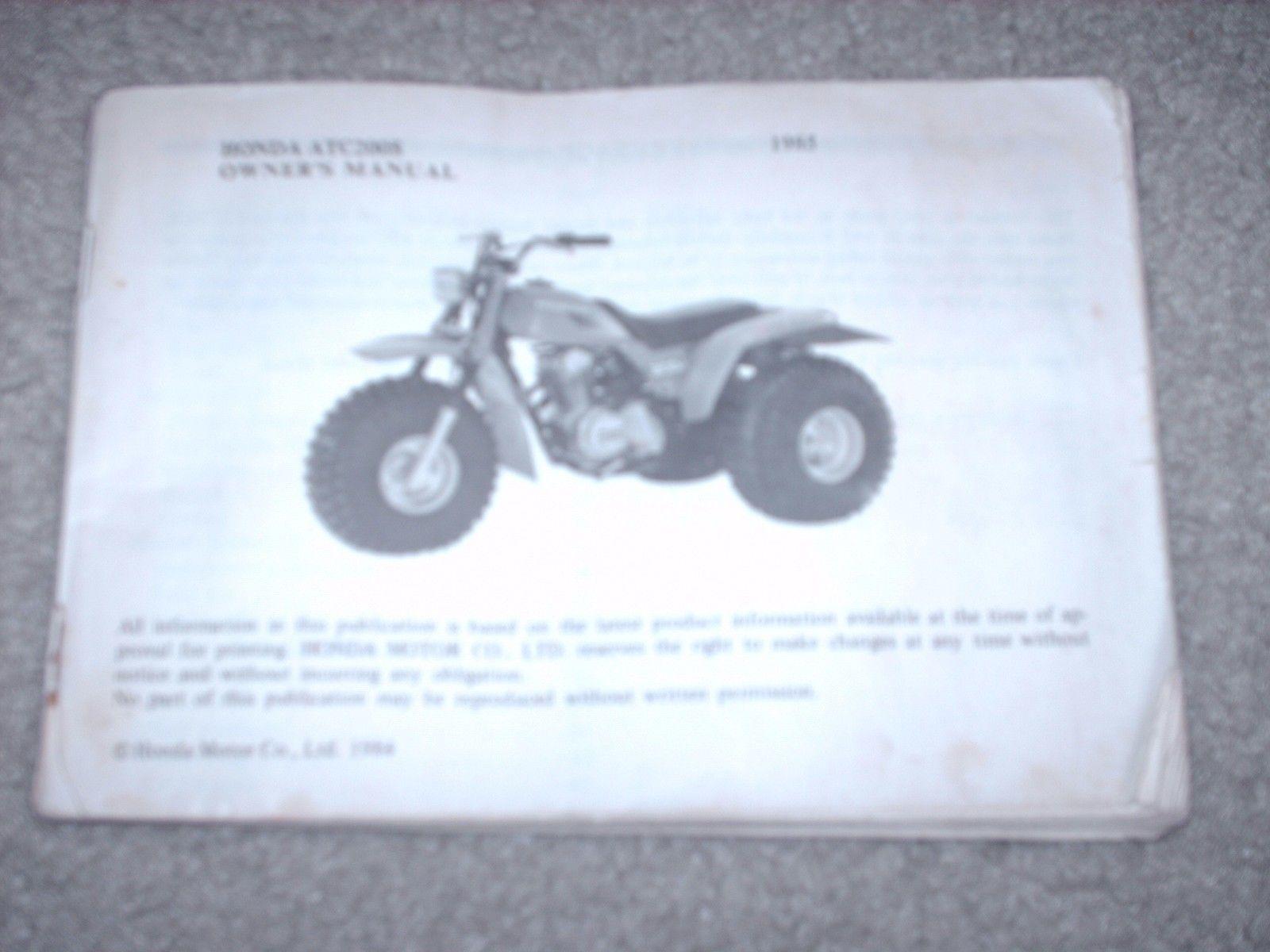 Honda 200s Wiring Diagram Yamaha Xj650 Kawasaki Ksf 250 1985 Atv Model Atc Owners Manual And Similar Items On