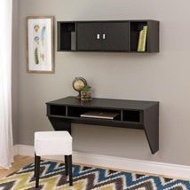 Wall Mounted Floating Computer Desk and Hutch w/ Storage NEW - $139.00+