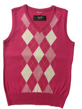 Riflessi Women Pink Argyle Golf Sweater Vest and 50 similar items b6ee51894
