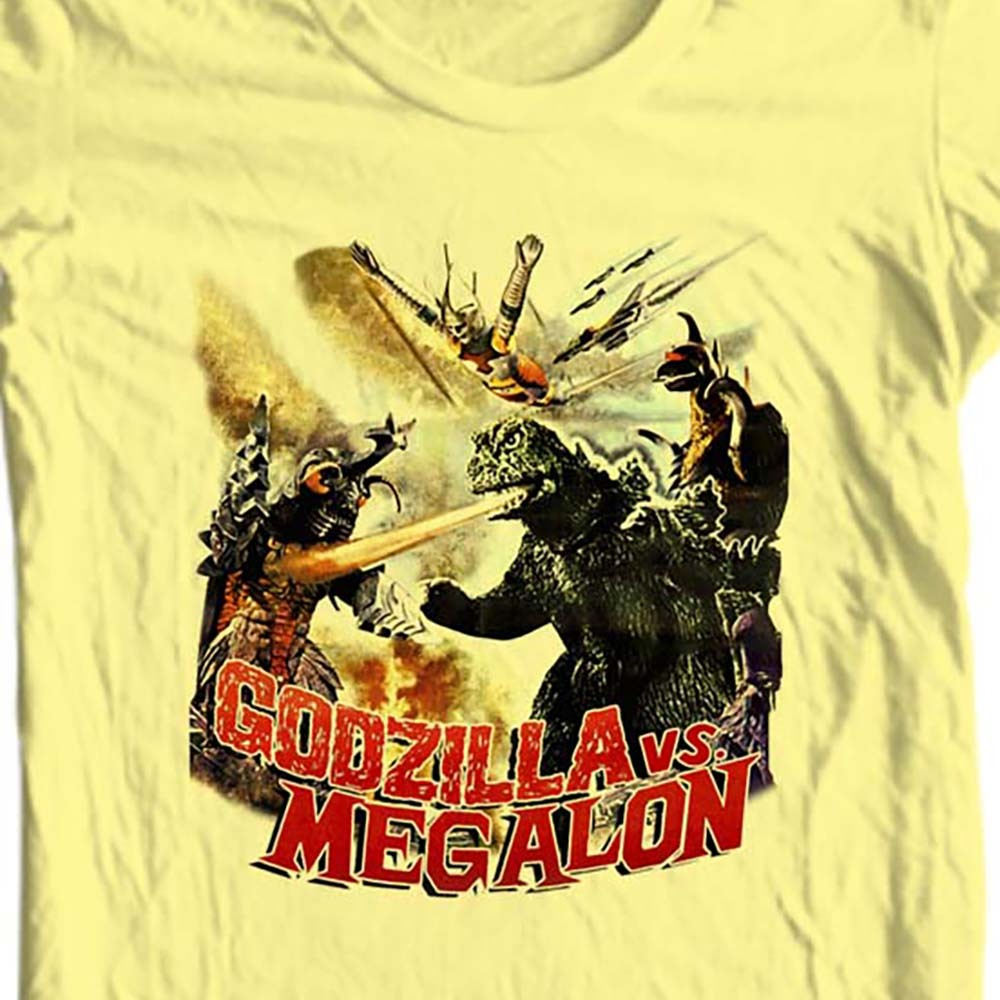 Godzilla vs Megalon t-shirt vintage old style retro sci fi film free shipping
