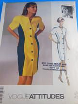 Vintage Vogue 2623 Tom & Linda Platt Color block Slimming Dress 6-8-10 UNCUT FF - $6.92