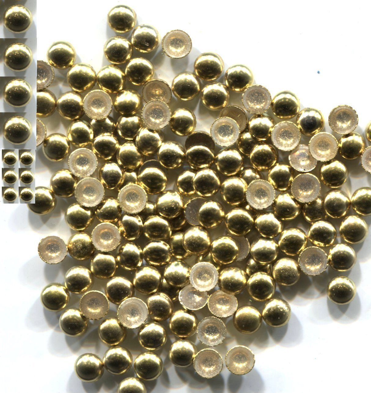Primary image for COPPER Made Nailheads DOME  3mm  Hot Fix  GOLD 144 PC  1 gross