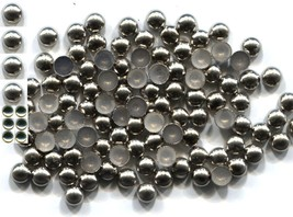 COPPER Made Nailheads DOME  3mm  Hot Fix  SILVER 144 PC  1 gross - $3.48
