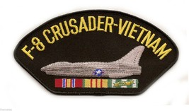 "F-8 CRUSADER VIETNAM VETERAN EMBROIDERED 6"" SERVICE RIBBON MILITARY   PATCH - $15.33"