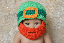 Knit Crochet Baby Child Kids Full Beard Hat Beanie Newborn Photo Prop Ha... - $9.99