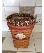 Longaberger Snapdragon Basket Set 1998 w/Snapdragon tie on and Liners - $34.64