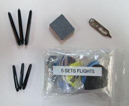 Assorted Steel Tip Darts Accessory Kit flights stone shafts halex - $9.95