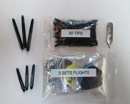 SLIM Soft Tip Darts Accessory Kit flights tips shafts halex case - $9.95