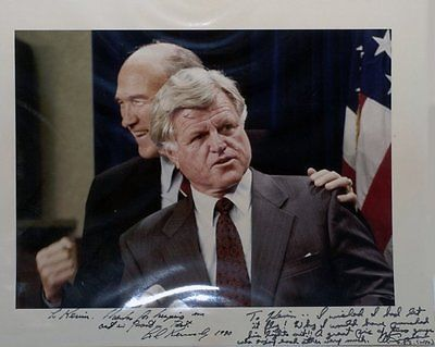 TED KENNEDY Autographed 11x14 photograph with Alan Simpson